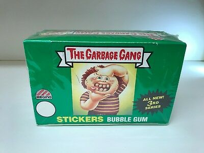 Garbage Pail Kids, Garbage Gang Series 3 - Sealed Trading Card Box - Regina 1988