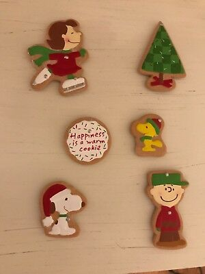 Hallmark PEANUTS Cookie Magnets LUCY SNOOPY WOODSTOCK CHARLIE BROWN set of 6