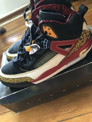 new concept e20af b3294 07 Nike Air Jordan SPIZIKE KING COUNTY BLACK TAXI RED WHITE Size 10.5