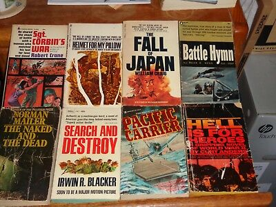 Books Paperback Lot of 8 Vintage WWII Action