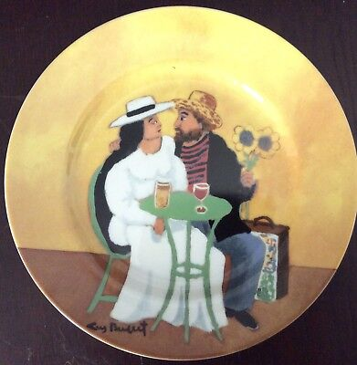 Vintage Guy Buffet Collector Plate - Japan