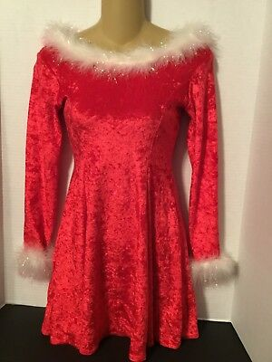 A Wish Come True Size Large Child Red And White Christmas Dance Dress