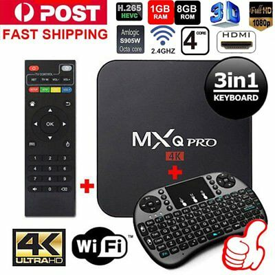 2018 MXQ PRO 4K BOX S905W 64Bit 1080P Quad-Core Android 7.1 SMART TV-BOX EU PLUG