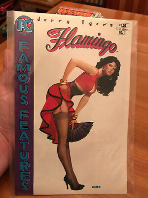 JERRY IGER'S FLAMINGO 1984 chiodo pin up cover famous features PC comics