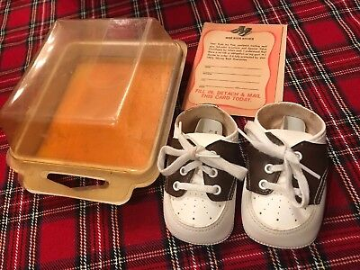 Vintage Wee Wee Walkers Infant Brown/white Saddle Shoes Size 0