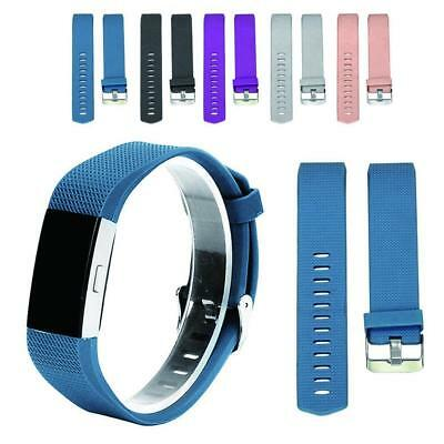 Replacement Watch Strap Wrist Band Classical Metal Buckle For FitBit Charge 2 #g