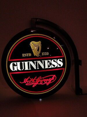 Arth Guinness Globe Bar Light Collectible Hanging Sign Vintage Beer Brewery