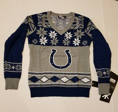 reputable site f2389 be3a6 INDIANAPOLIS COLTS UGLY Christmas sweaters size Small NFL ...
