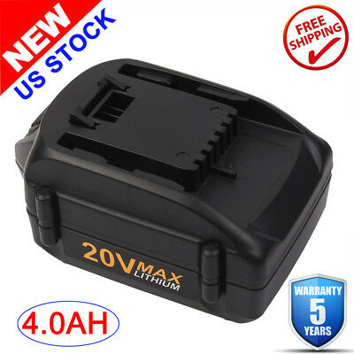 For WORX WA3520 20V MAX Lithium Cordless Tool Battery 4.0Ah WA3525 WA3732 WA3512