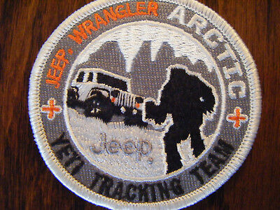 Jeep Wrangler Yeti Arctic Tracking Team Iron On Jacket Patch Sew On HILARIOUS