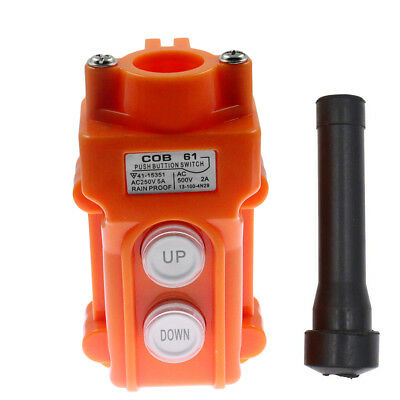 Crane Pendant Control Pushbutton Switch Hoist Station Up-Down Waterproof Button