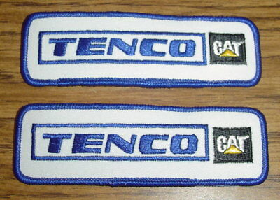 """Set Of Two Brand New Tenco Cat Caterpillar Hat Shirt Patches 5"""" X 1 ½"""""""