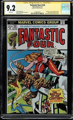 Fantastic Four #133 Cgc 9.2 White Pages Ss Stan Lee Thundra Cgc #1508475022