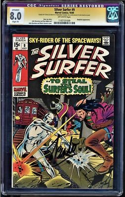 SILVER SURFER #9 CGC 8.0 SS STAN LEE SIGNED MEPHISTO APP #1197101009 Restored