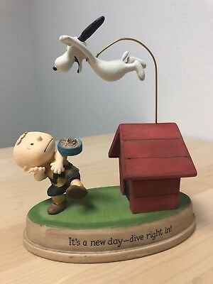 Hallmark Gallery Peanuts Figurine Snoopy It's A New Day Dive Right In