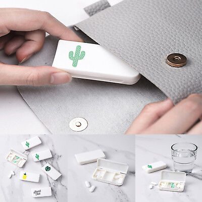 4pcs Cactus Travel Portable Small Medicine Box Mini Pills Storage Medicine Boxes