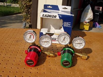 Radnor G-250 Cutting Welding Torch Regulator Set Oxygen Acetylene Gauges New