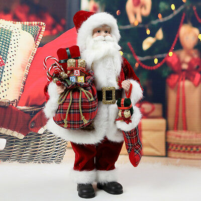 48CM Stunning Traditional Father Christmas Santa Claus Figure Xmas Decoration