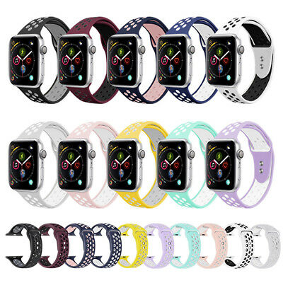 Apple Watch Series 4321 Sports Silicone Bracelet Strap Band iWatch 38/42/40/44