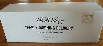 """Department 56 Snow Village """"early Morning Delivery"""" Accessory #5431-3"""