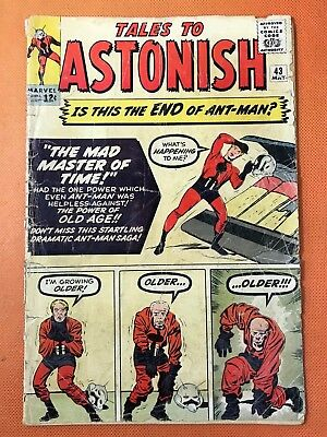 1963 Marvel TALES TO ASTONISH #43 * ANT-MAN vs MAD MASTER OF TIME