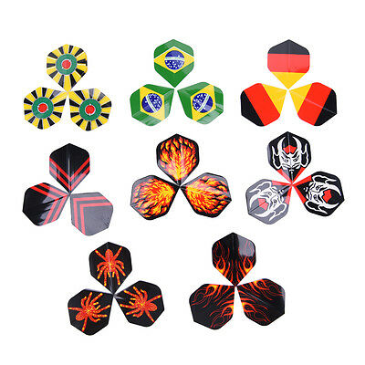 24Pcs Professional Popular Pattern Nice Darts Tail Flights Wing Mixed Style _H