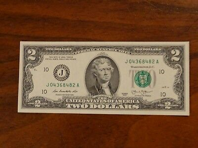 Us Federal Reserve $2 Note