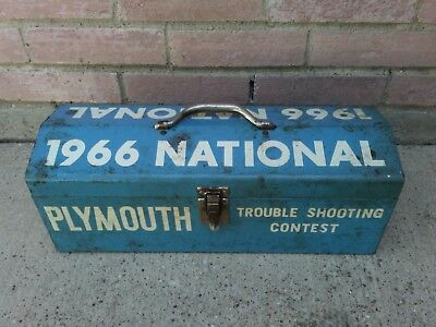 VTG 1966 Plymouth Trouble Shooting Contest Tool Box Bonney Tools Advertising