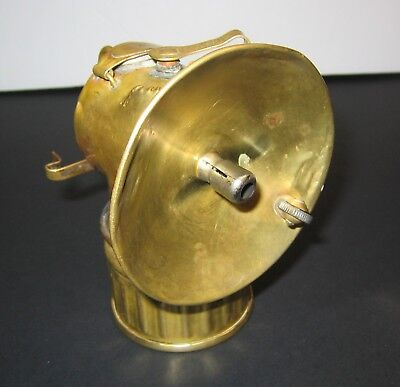 MINER's JUSTRITE BRASS PAT. APPLIED FOR CARBIDE LAMP- Working Condition!