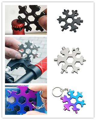 15 In 1 Incredible Tool Stainless Multi tool Creative Snow Keychain Tool 2018
