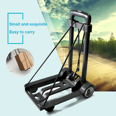 Folding Compact Lightweight Luggage Cart Portable Travel Trolley Multi Use