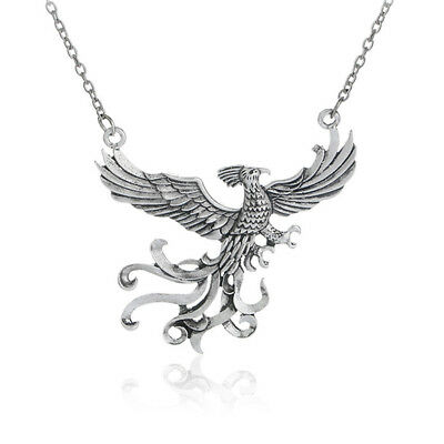 Harry Potter Necklace Vintage Silver Plated Phoenix Pendant Charms for Gift