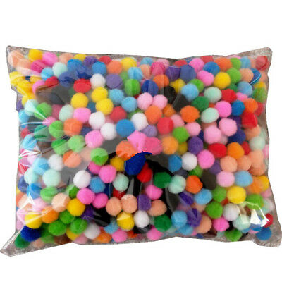 2000x DIY Mixed Color Soft Fluffy Pom Poms Pompoms Ball 8mm for kids Craft