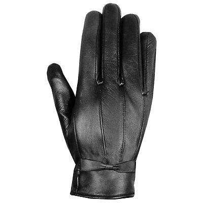 Premium Fashion Lambskin Winter Driving Dress Gloves Thinsulate Lined Black