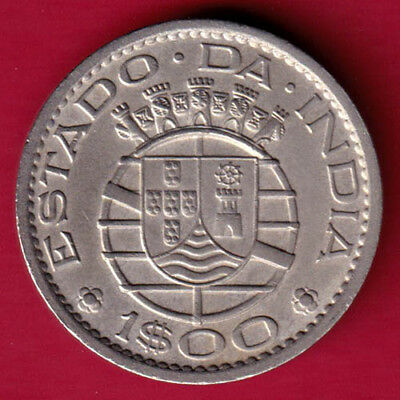 Portuguese India Goa - 1959 - One Escudo - Rare Coin #pm41