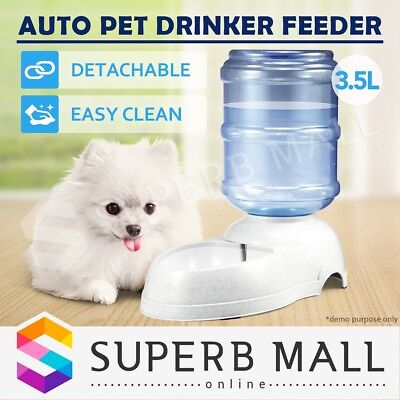 3.5L Automatic Feeder Bottle Bowl Pet Dog Cat Puppy Water Dispenser Drinking