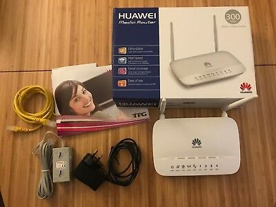 BOXED HUAWEI 300 MBPS ADSL2+ NBN WIRELESS MEDIA ROUTER MODEM~ HG532d~ MINT!