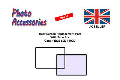 Rear Screen Replacement Part With Tape New For Canon EOS 60D / 600D