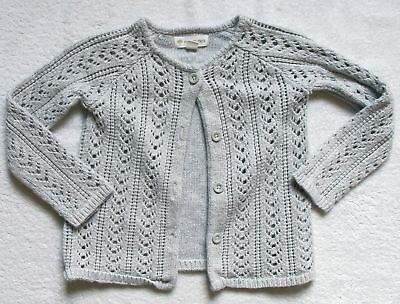 Girls Toddler Tucker + Tate gray sparkle cardigan sweater size 4 years 4T