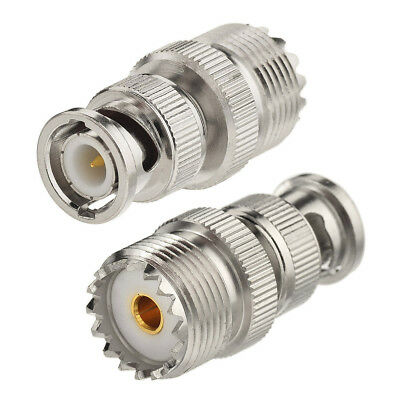 2-Pack BNC Male to UHF SO-239 Female Adapter for Uniden Whistler Radio Scanner