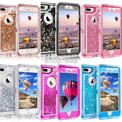 For iPhone XS/X 6S 6/7/8&Plus Glitter Liquid Defender Bling Quicksand Case Gift