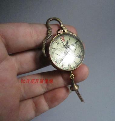 crystal sphere of mechanical watch Chinese Antique Brass Bell ball
