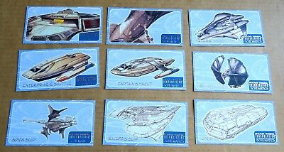 Star Trek Insurrection Trading Cards Set Of 9  Schematics Subset Chase Cards