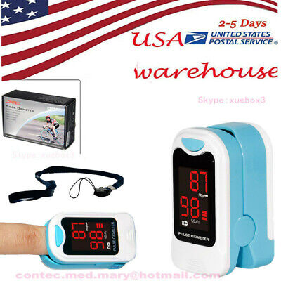 Finger Tip Pulse Oximeter SpO2 Heart Rate monitor blood oxygen Meter, USA seller