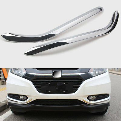 ABS Chrome Car Front Fog Lamp Light Cover Trim Strip For Honda HR-V HRV 14-2018
