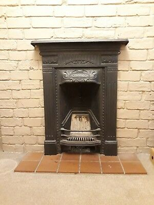 Cast Iron Fireplace Front With Mantle. Vintage look.