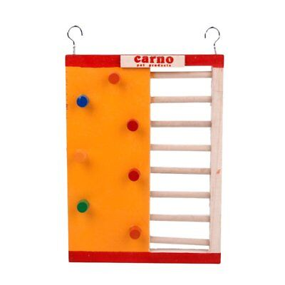 Hamsters Wooden Toy Colorful Funny Climbing Ladder Molar Supplies 18x14x2cm
