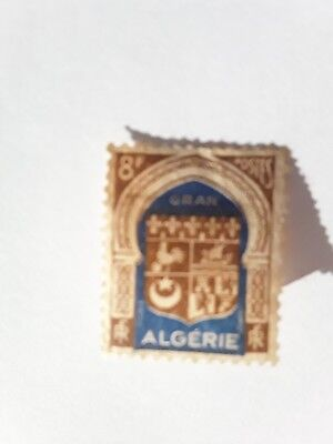 USED STAMP COLONIAL FRENCH ALGERIA 1942 'ORAN'  8francs