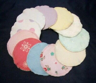 Reusable Makeup Remover Pads With Soft Plush Bamboo Towelling Backing,Pack of 10