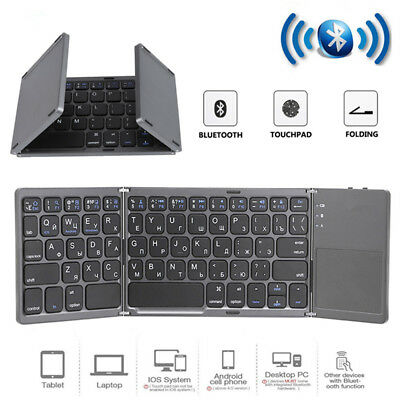 Foldable USB Bluetooth Keyboard Touchpad Mouse Universal For Windows Android iOS